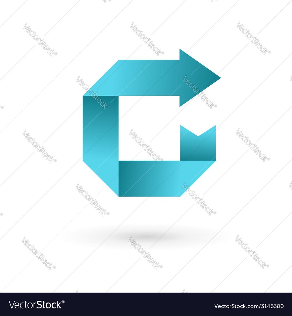 Letter c arrow ribbon logo icon design template vector | Price: 1 Credit (USD $1)