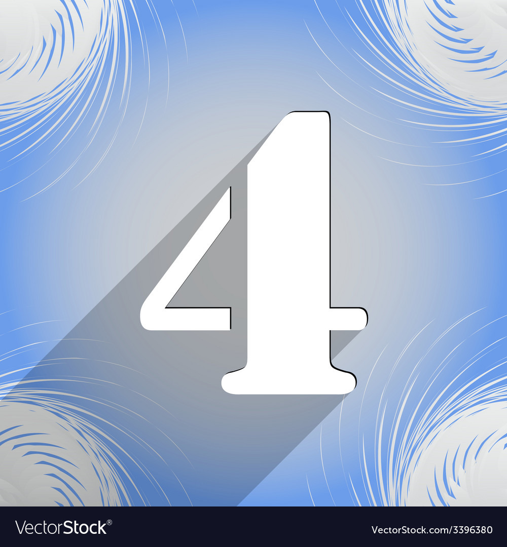 Number four icon symbol flat modern web design vector   Price: 1 Credit (USD $1)