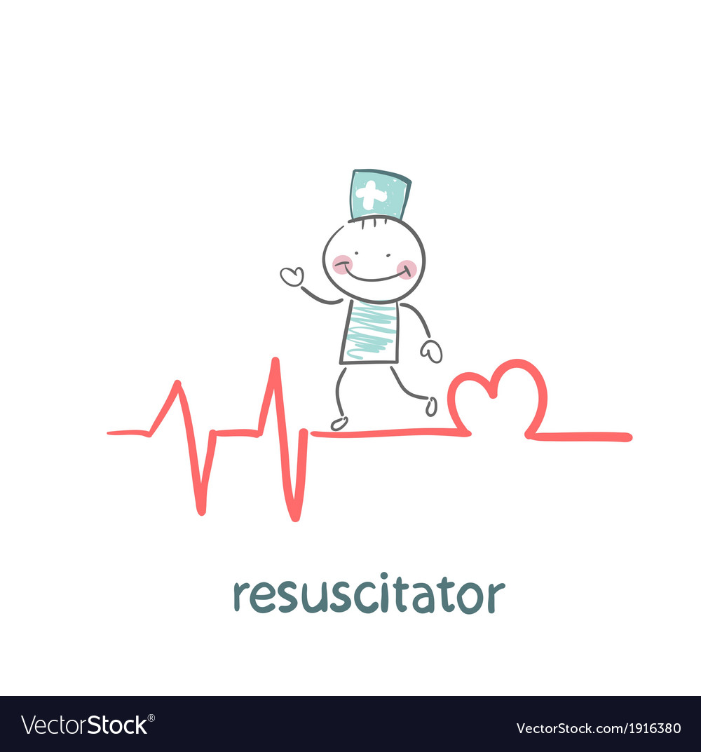 Resuscitation is on the line showing the beating vector | Price: 1 Credit (USD $1)