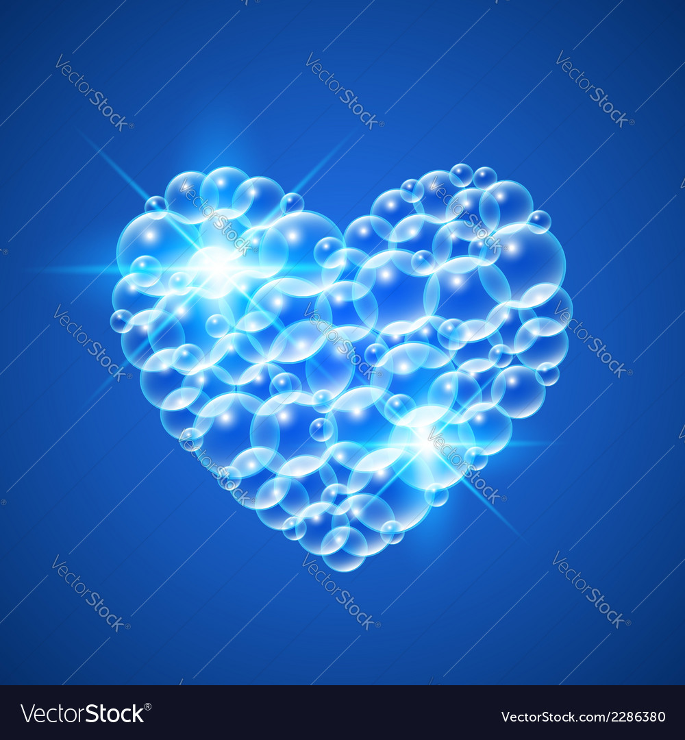 Shiny heart of bubbles vector | Price: 1 Credit (USD $1)