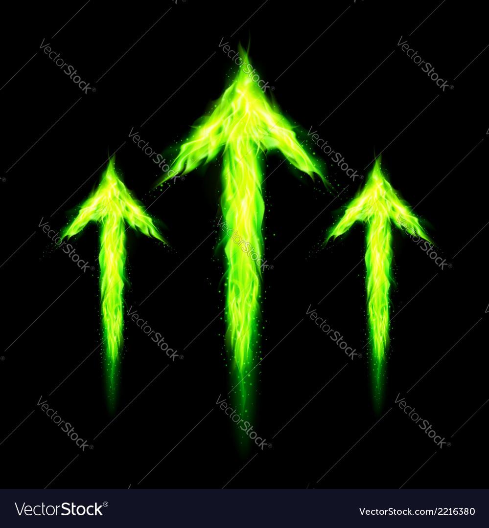 Three fire arrows vector | Price: 1 Credit (USD $1)