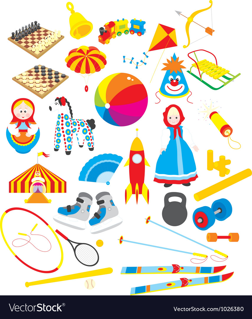 Toys and sporting accessories vector | Price: 1 Credit (USD $1)