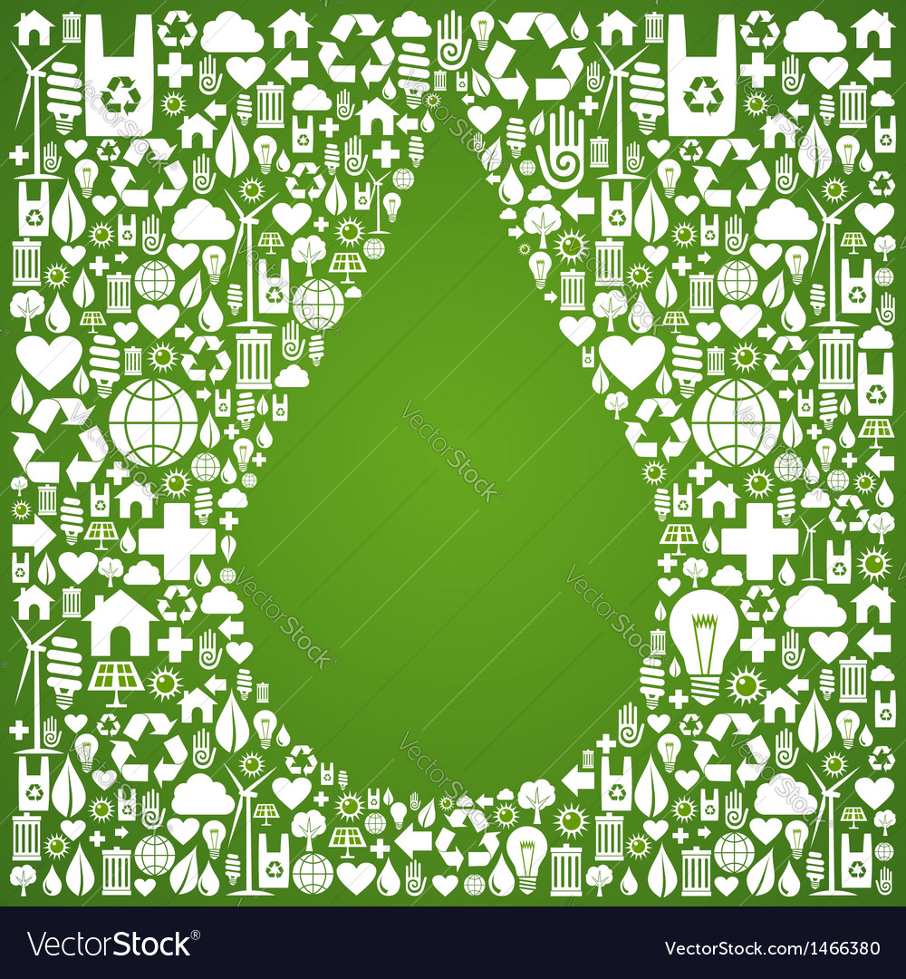Water drop eco icons background vector | Price: 1 Credit (USD $1)