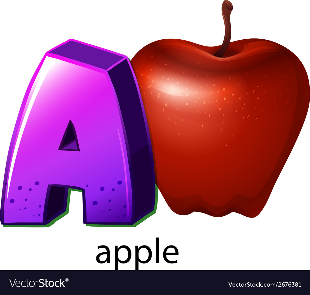 A letter a vector | Price: 1 Credit (USD $1)