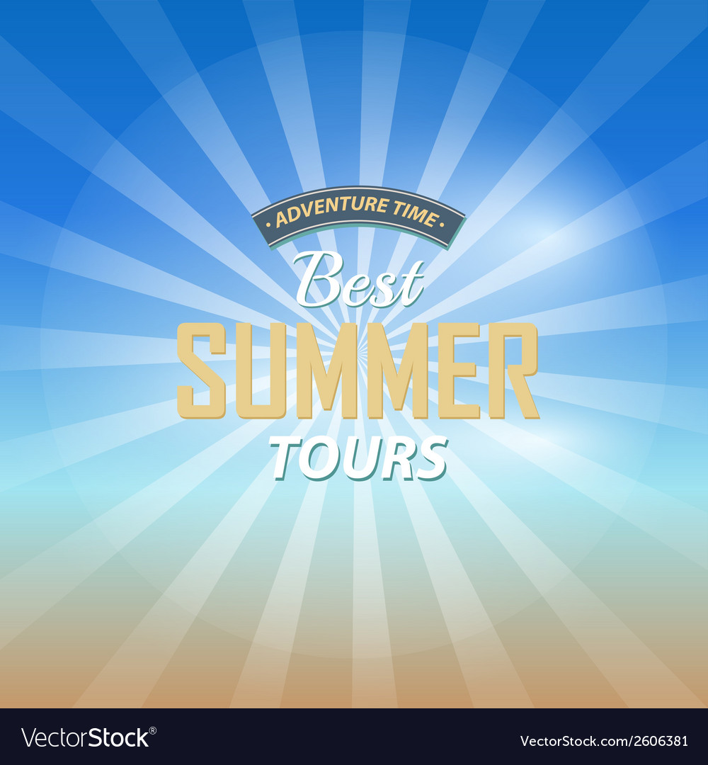 Adventure time best summer tours background vector | Price: 1 Credit (USD $1)