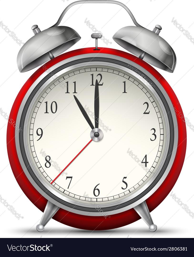 Alarm clock watch vector | Price: 1 Credit (USD $1)