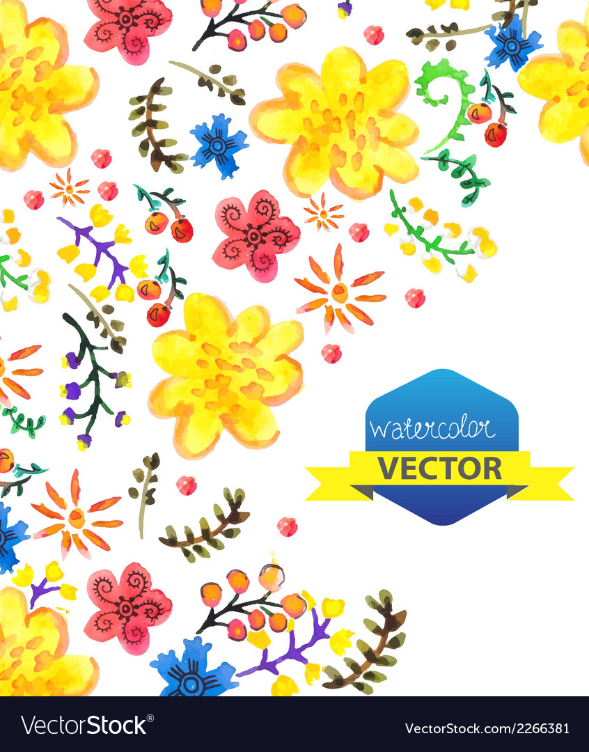 Bright color floral background vector | Price: 1 Credit (USD $1)