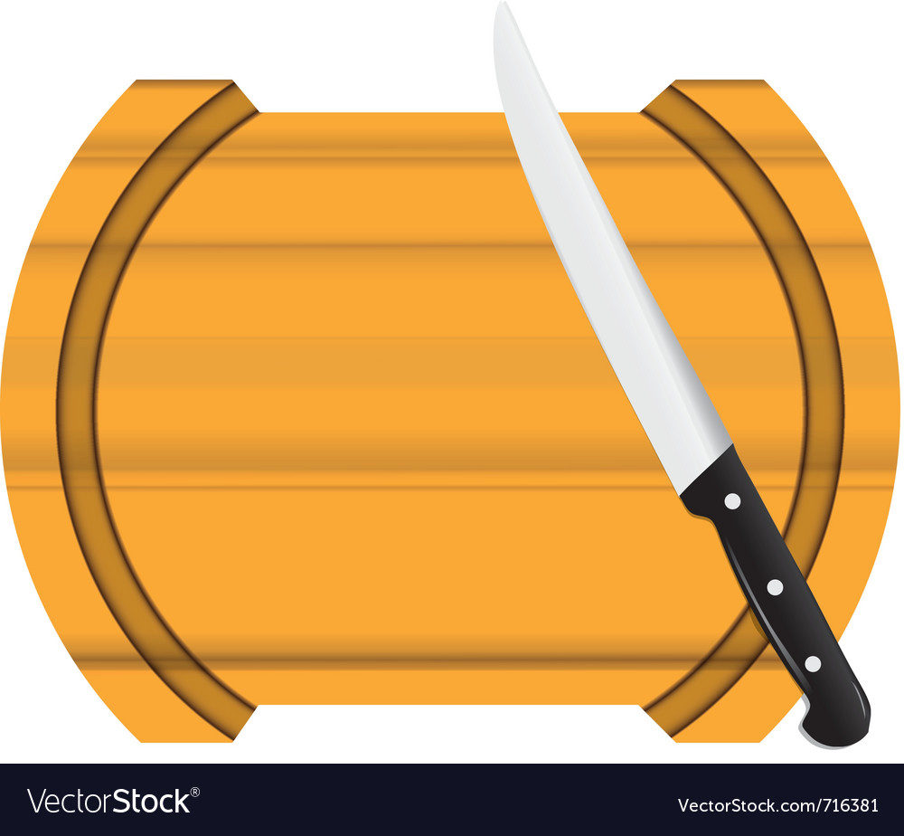 Kitchen board knife vector | Price: 1 Credit (USD $1)
