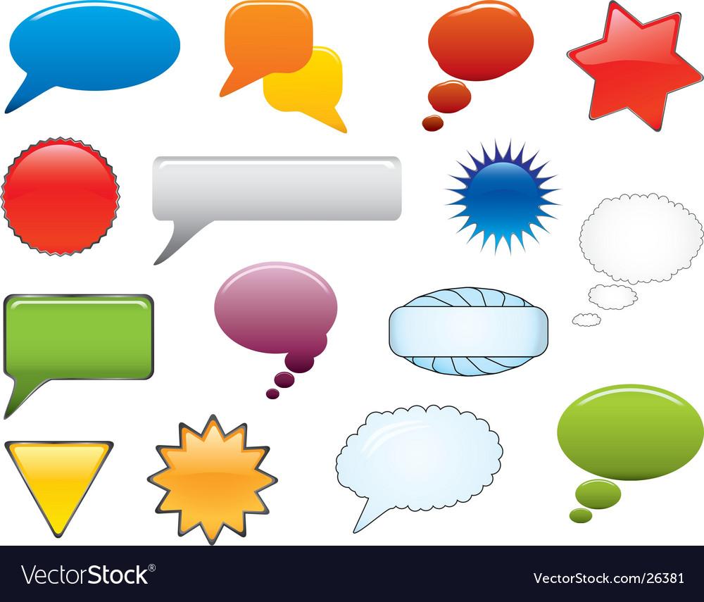 Message icon set vector | Price: 1 Credit (USD $1)