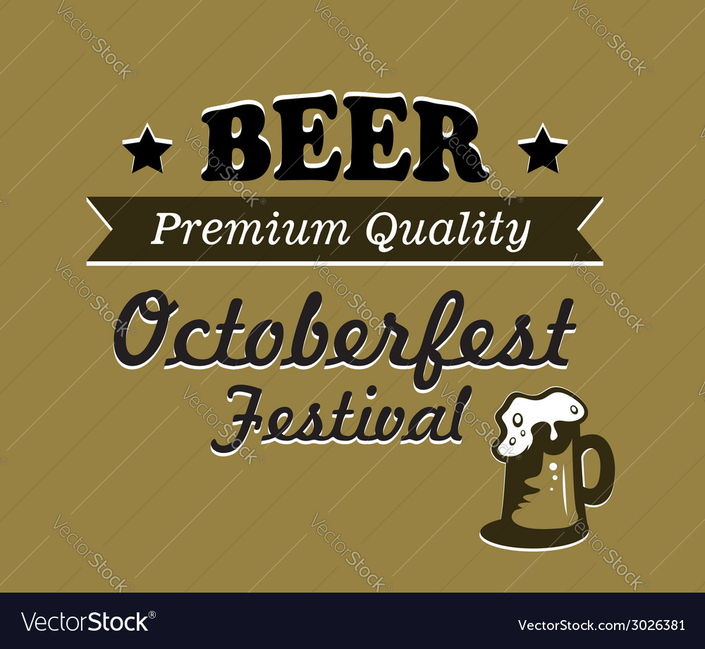 Oktoberfest beer poster design vector | Price: 1 Credit (USD $1)