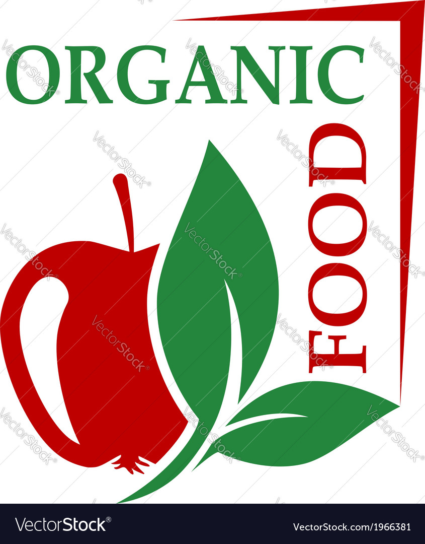 Organic food icon vector | Price: 1 Credit (USD $1)