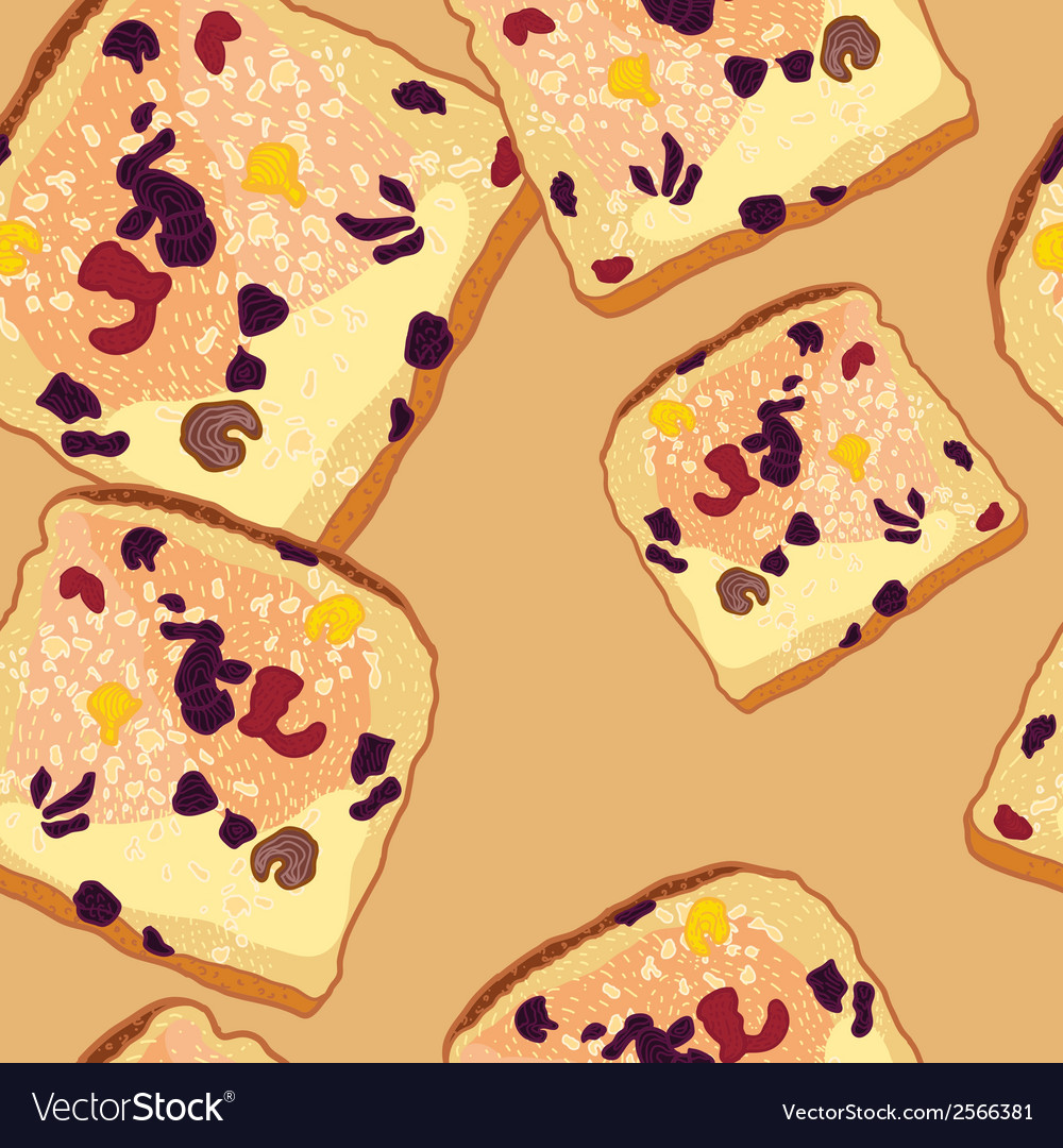 Seamless pattern slices of bread vector | Price: 1 Credit (USD $1)