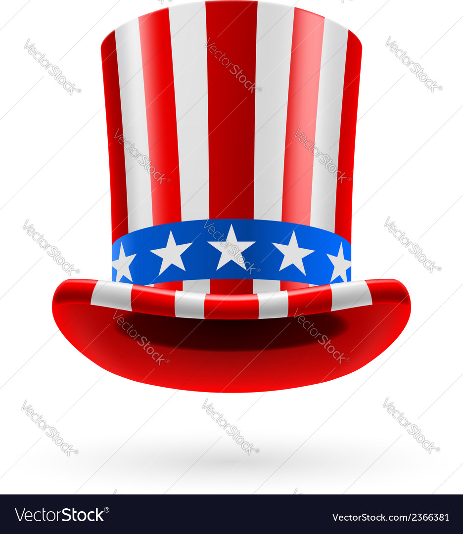 Top hat made of us flag vector | Price: 1 Credit (USD $1)