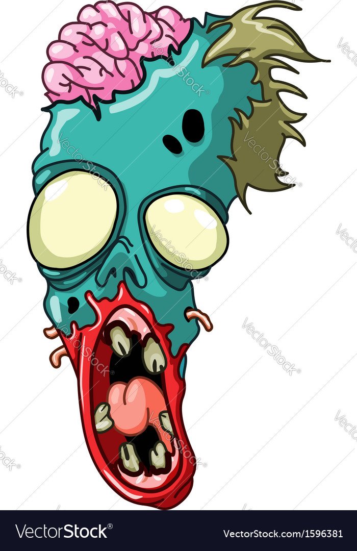 Zombie head vector | Price: 1 Credit (USD $1)