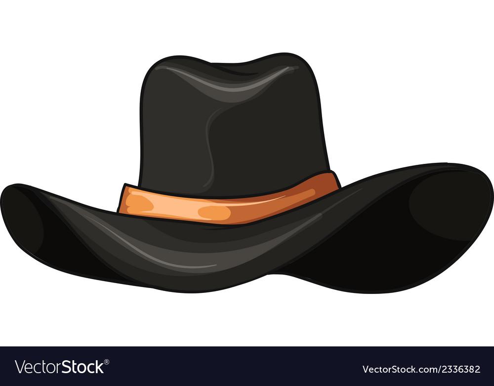 A dark grey hat vector | Price: 1 Credit (USD $1)