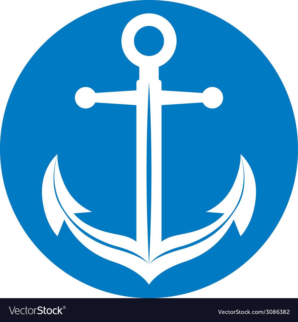 Anchor symbol monochrome icon vector | Price: 1 Credit (USD $1)
