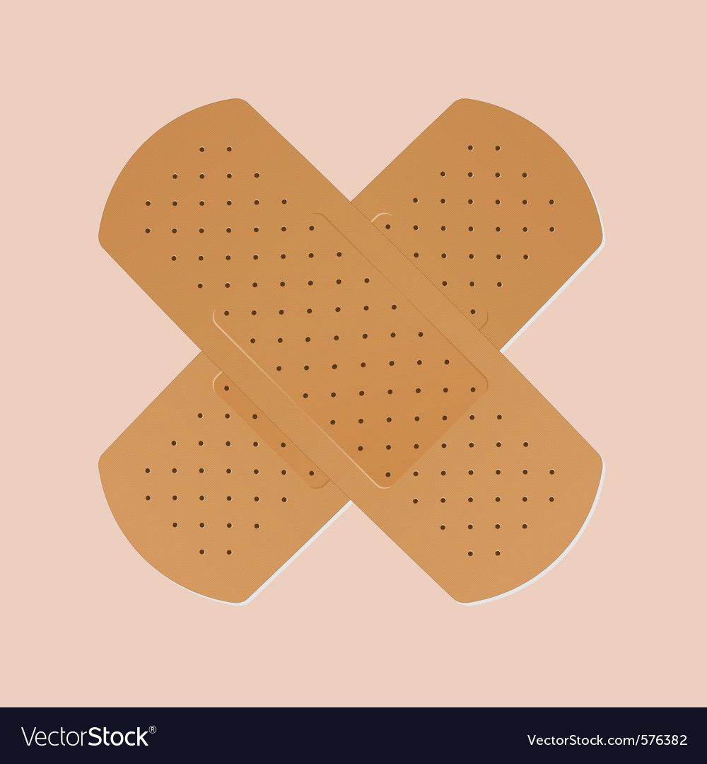 Bandaid plaster vector | Price: 1 Credit (USD $1)