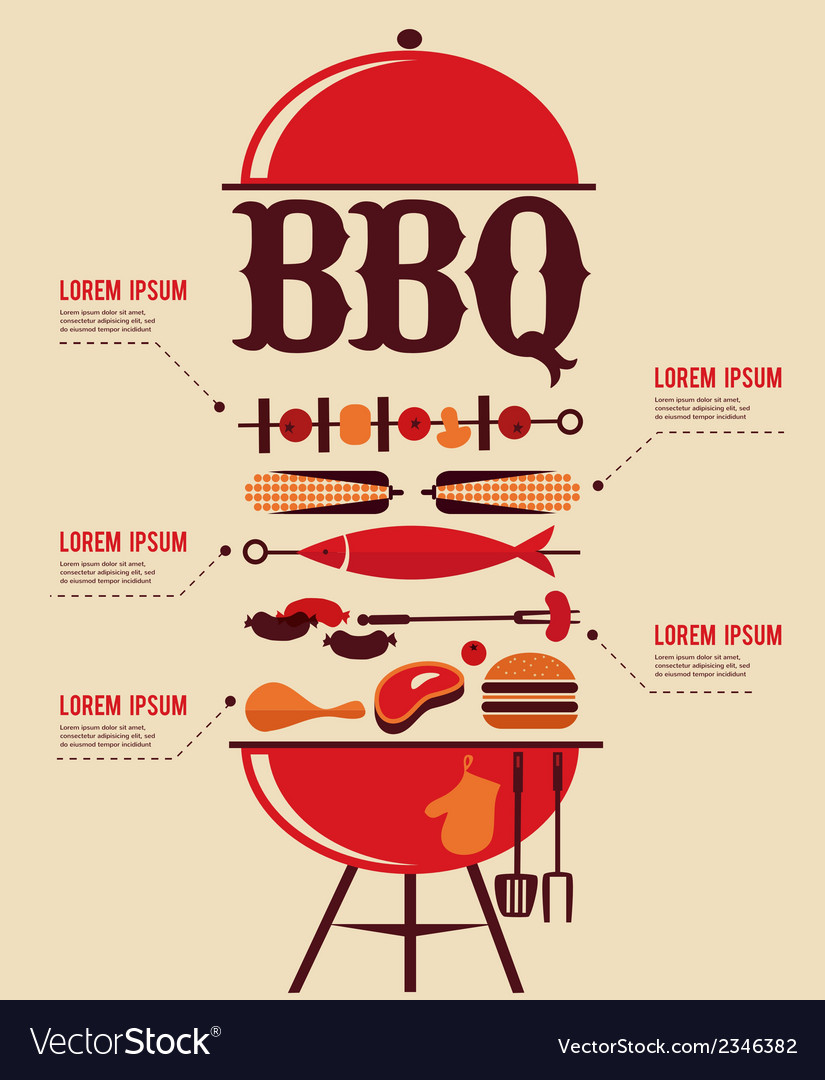 Bbq infographics vector | Price: 1 Credit (USD $1)