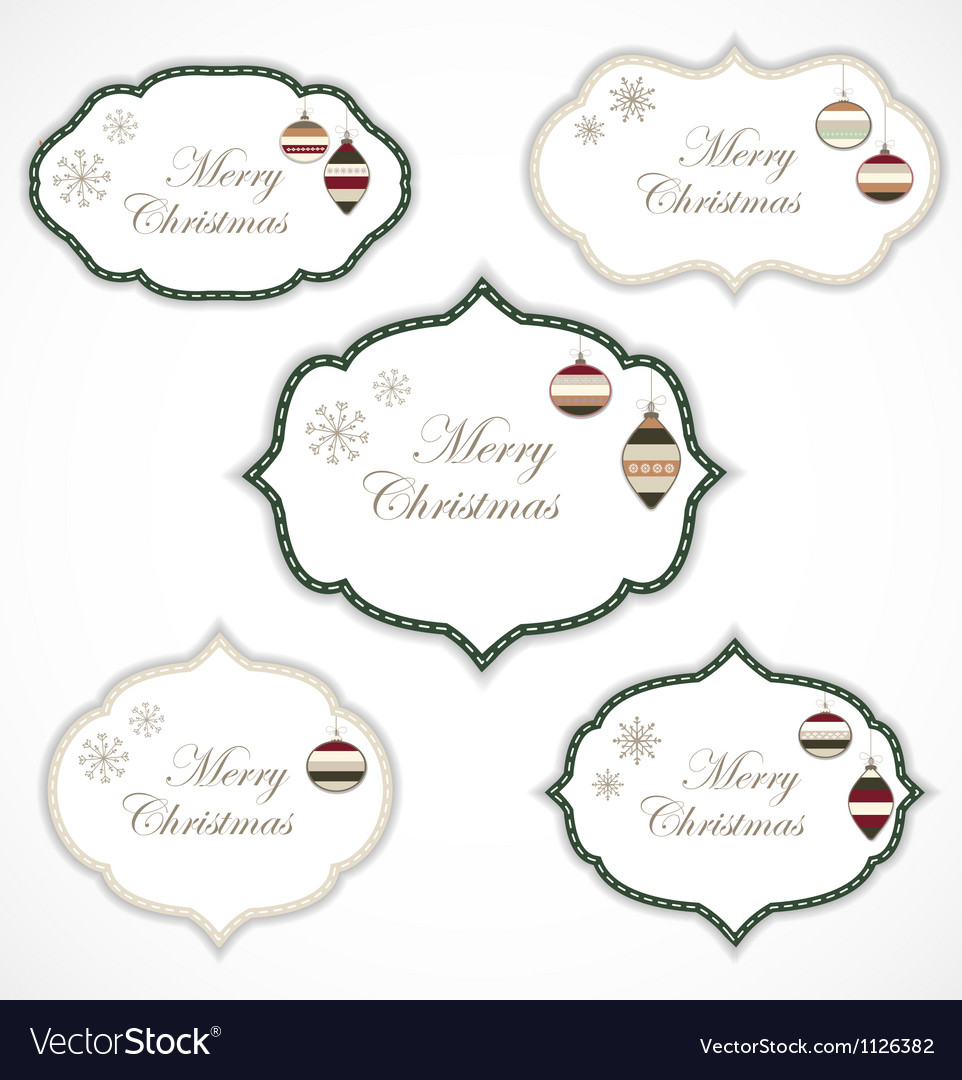 Christmas frames vector | Price: 1 Credit (USD $1)