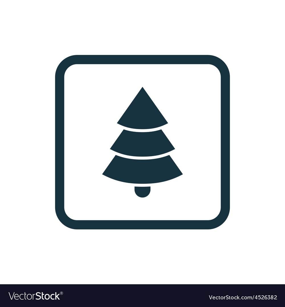 Christmas tree icon rounded squares button vector | Price: 1 Credit (USD $1)