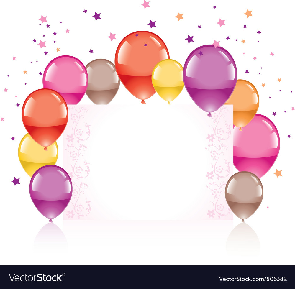 Festive colorful balloons vector | Price: 1 Credit (USD $1)