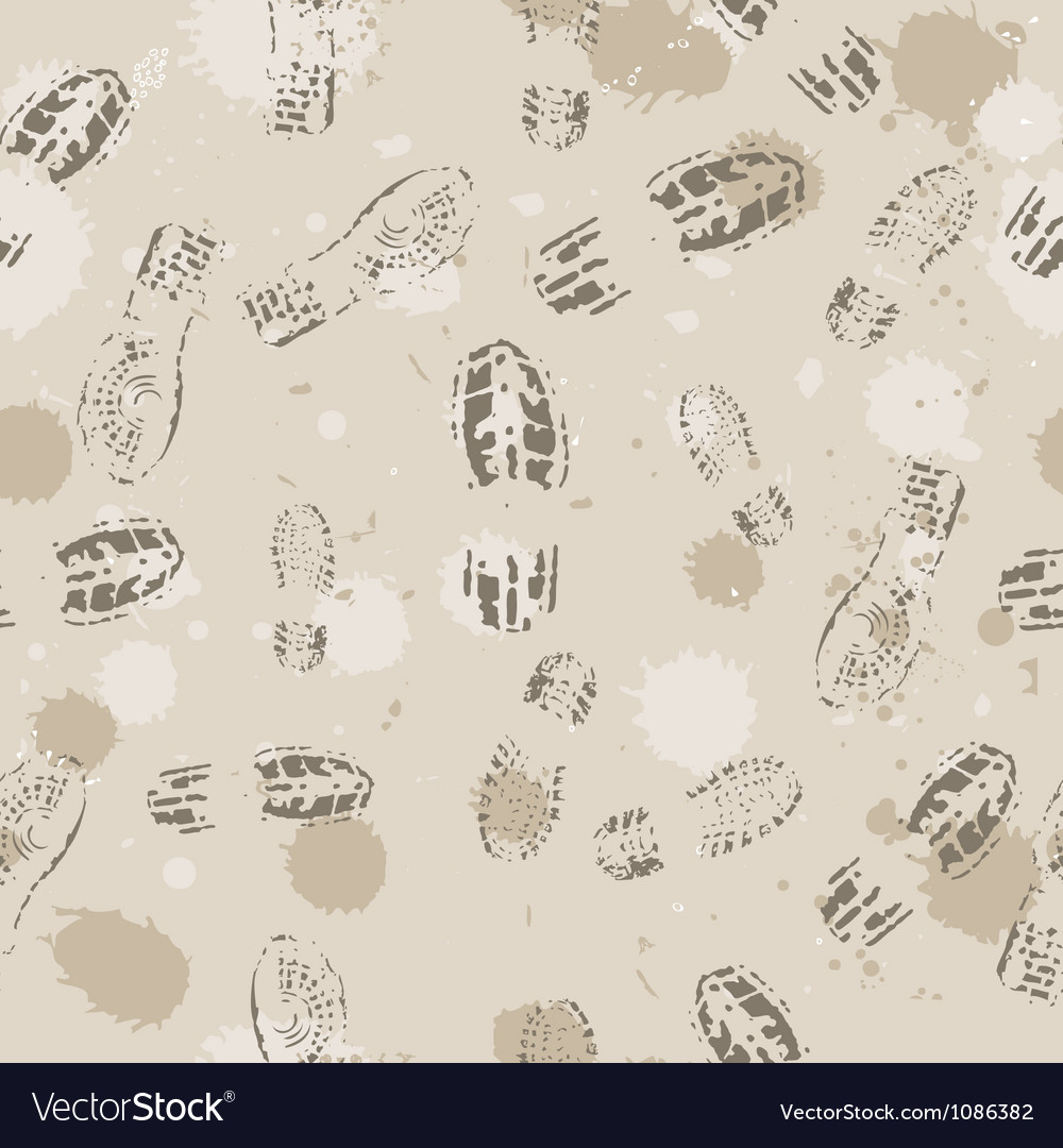 Grange seamless background with footprints vector | Price: 1 Credit (USD $1)