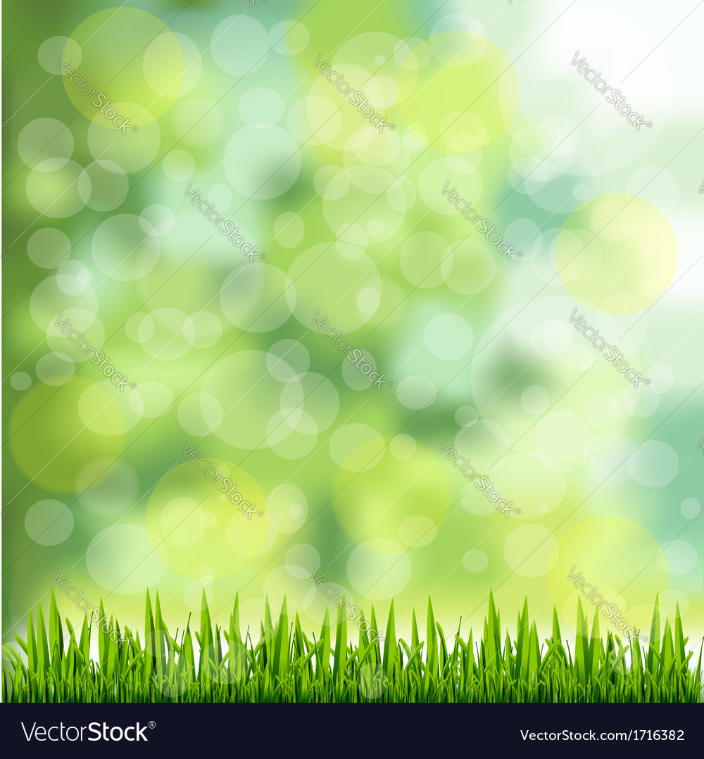 Grass border on natural green background vector | Price: 1 Credit (USD $1)