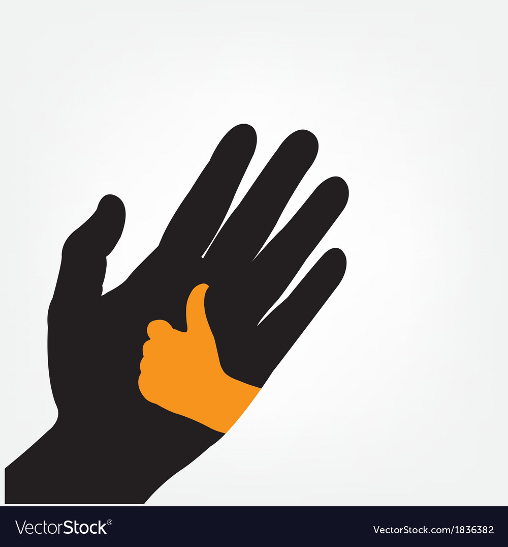 Hand iconhand symbol vector | Price: 1 Credit (USD $1)