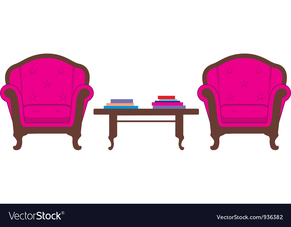 Two chairs and table vector | Price: 1 Credit (USD $1)