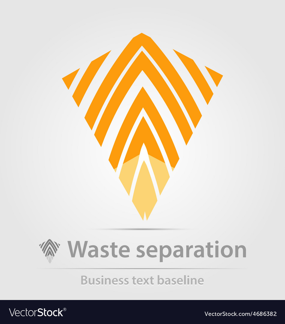 Waste separation business icon vector | Price: 1 Credit (USD $1)