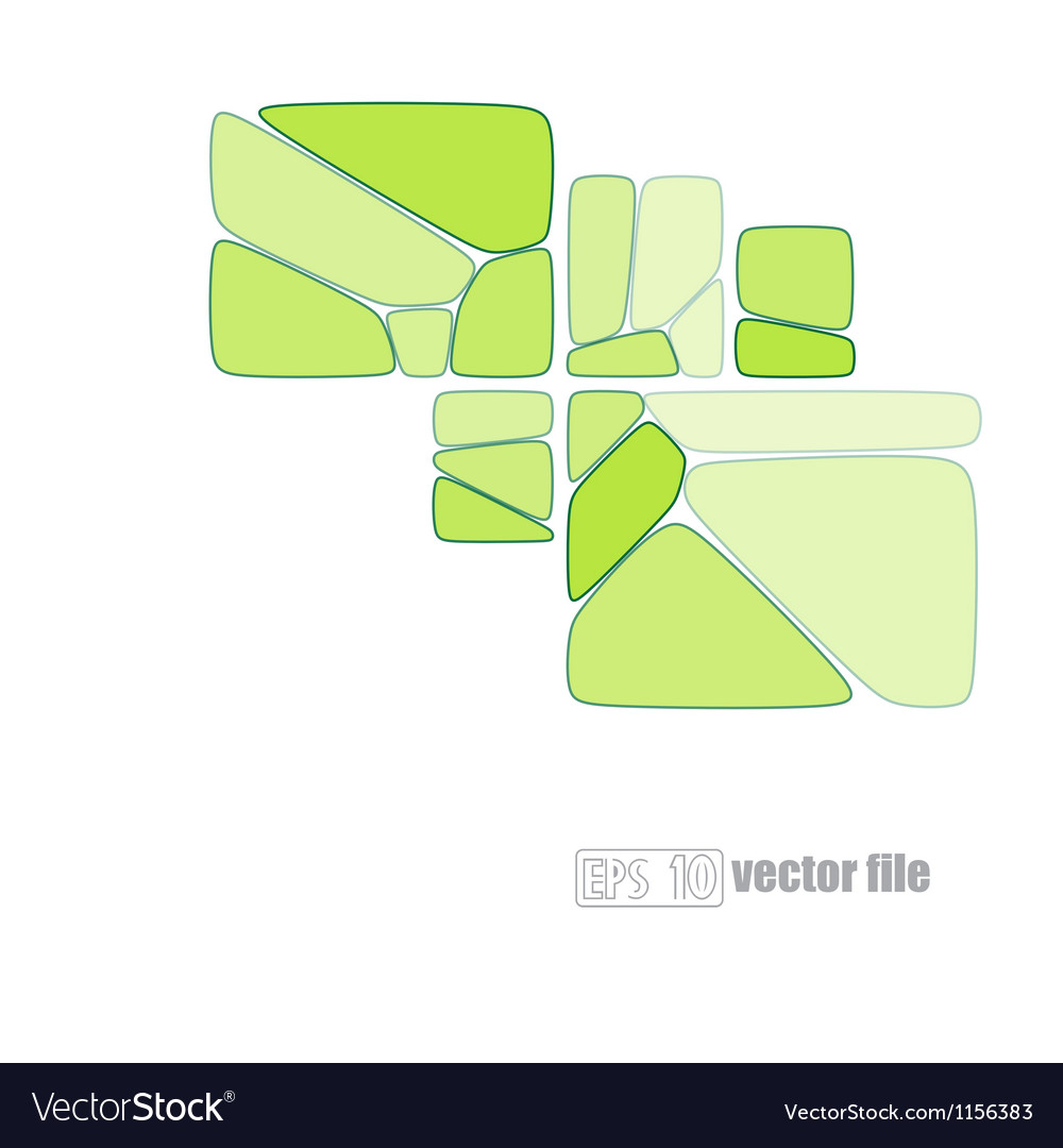 Abstract glass mosaic green vector | Price: 1 Credit (USD $1)
