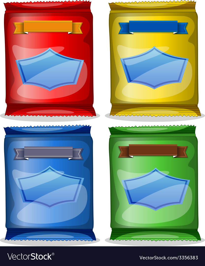 Assorted packets of food vector | Price: 1 Credit (USD $1)