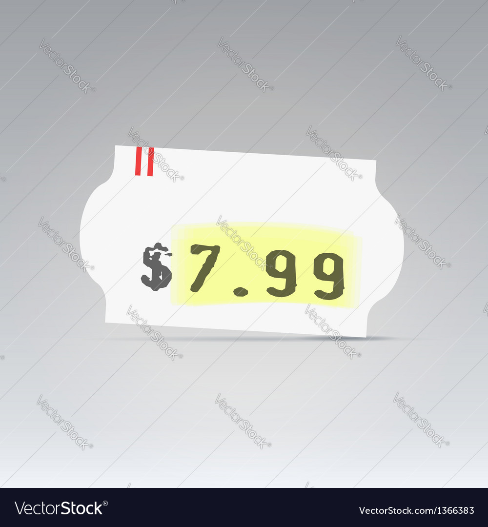 Clean white price tag vector | Price: 1 Credit (USD $1)