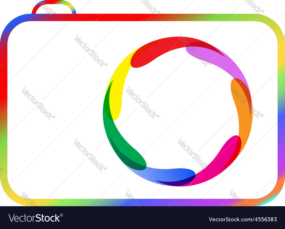 Colorful digital camera vector   Price: 1 Credit (USD $1)