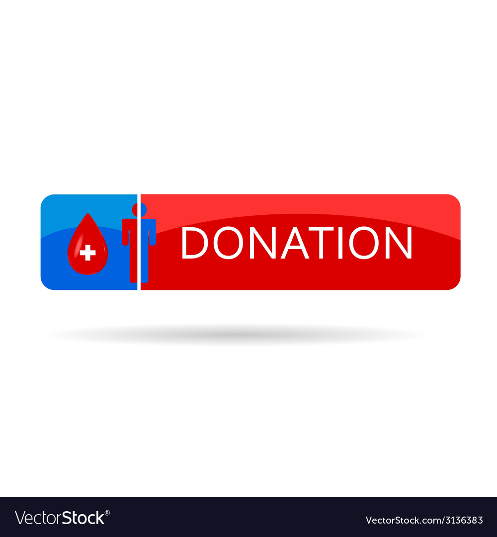 Donation blood color vector | Price: 1 Credit (USD $1)