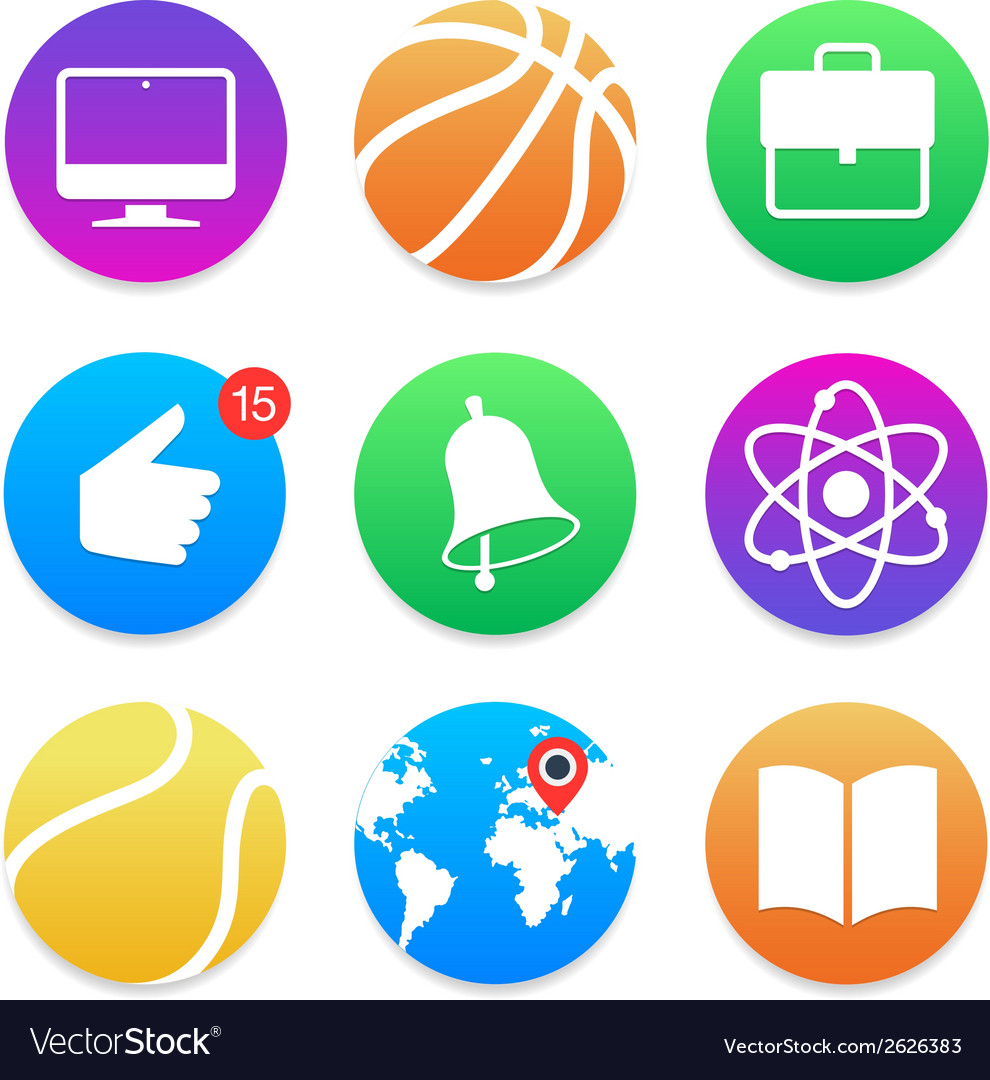 Education icons school symbols set vector | Price: 1 Credit (USD $1)