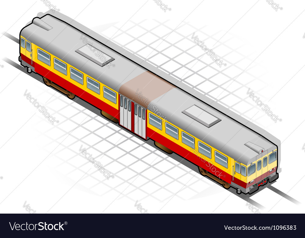 Isometric electric train vector | Price: 3 Credit (USD $3)