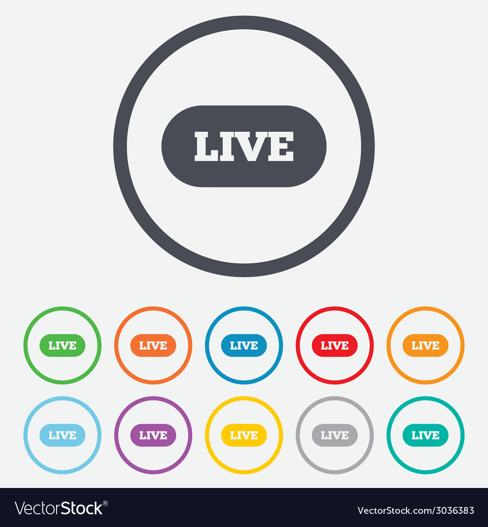 Live sign icon on air stream symbol vector   Price: 1 Credit (USD $1)
