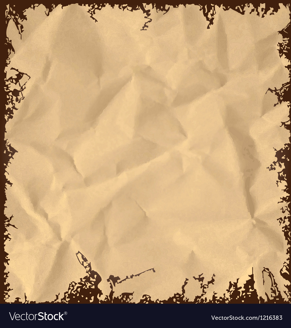 Old crumpled paper background vector | Price: 1 Credit (USD $1)