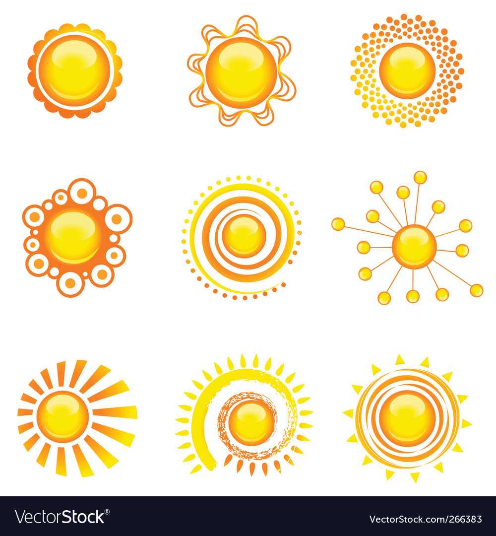 Sun set vector | Price: 1 Credit (USD $1)