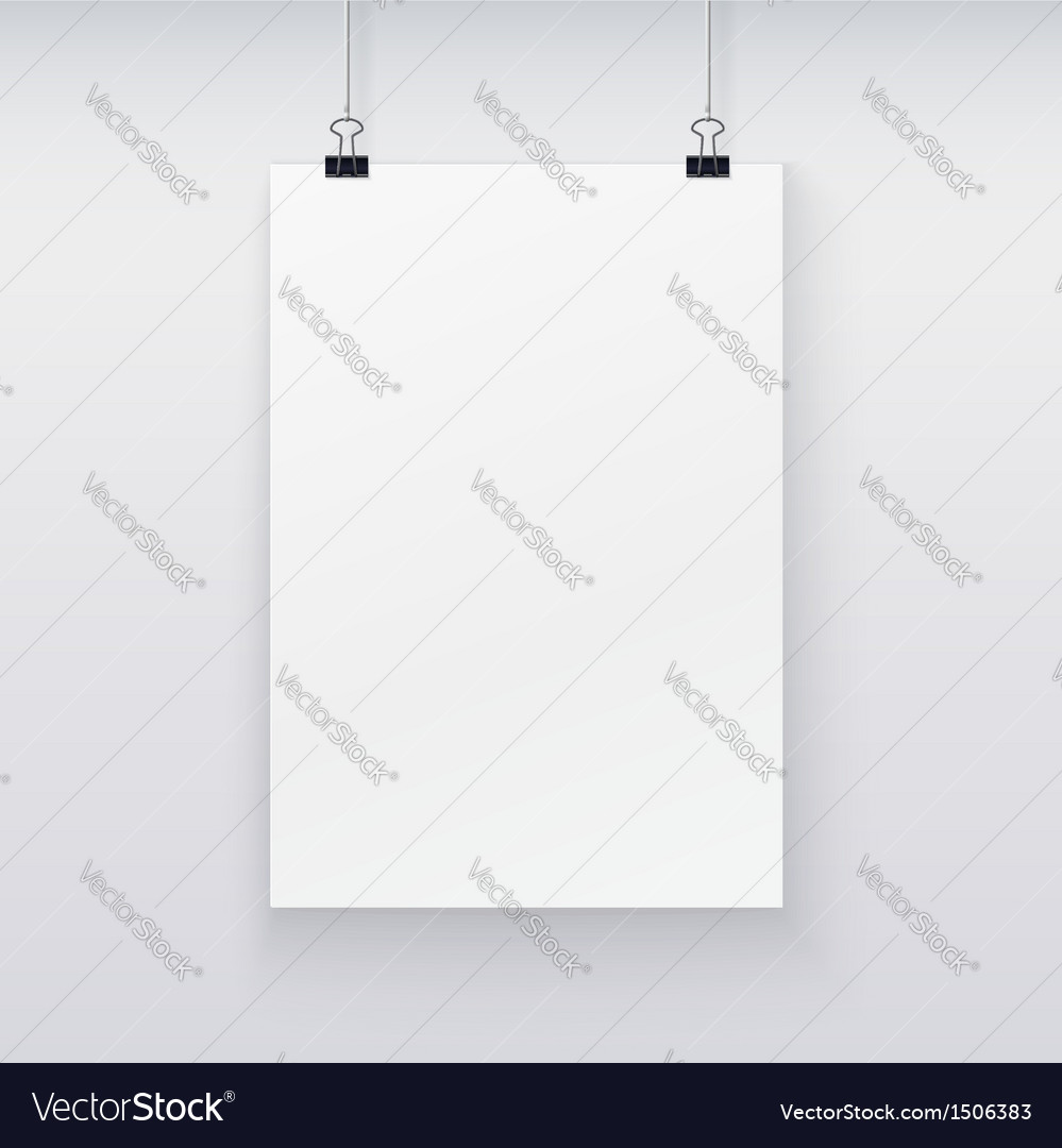 Template of a paper sheet for your design vector