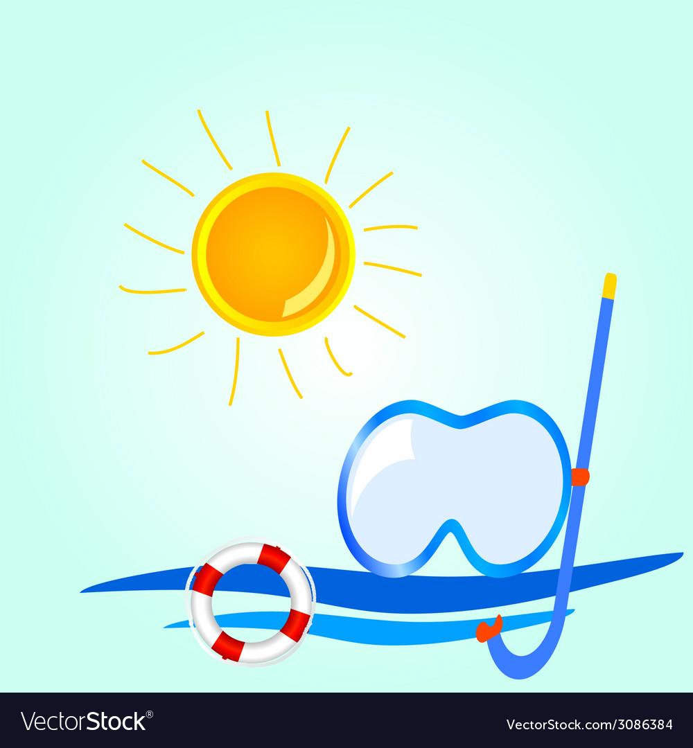 Beach stuff icon cartoon vector | Price: 1 Credit (USD $1)