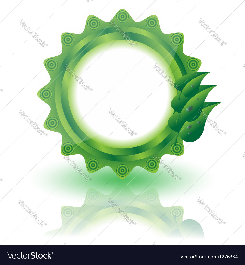 Eco label vector | Price: 1 Credit (USD $1)