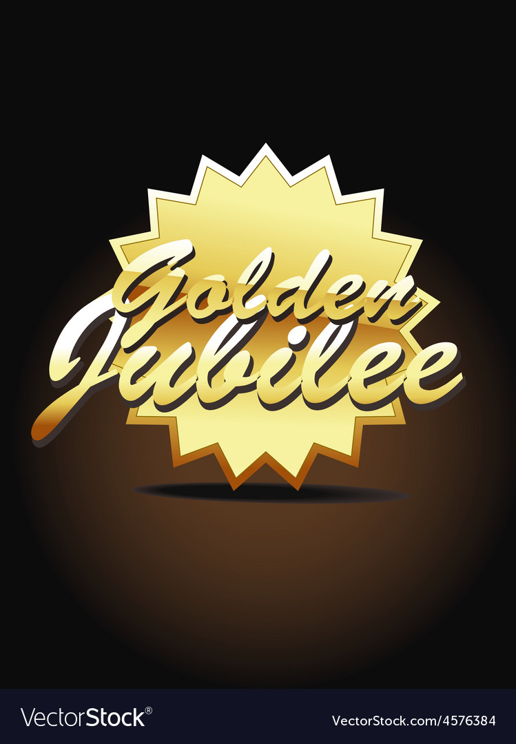 Gold jubilee art vector | Price: 1 Credit (USD $1)