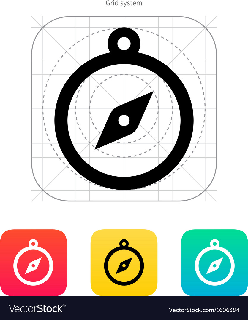 Hand compass icon vector | Price: 1 Credit (USD $1)