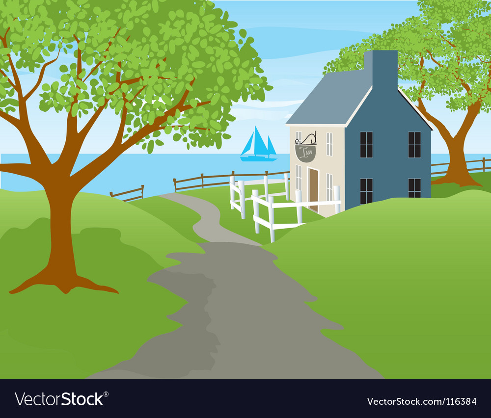 Harbor inn vector | Price: 1 Credit (USD $1)