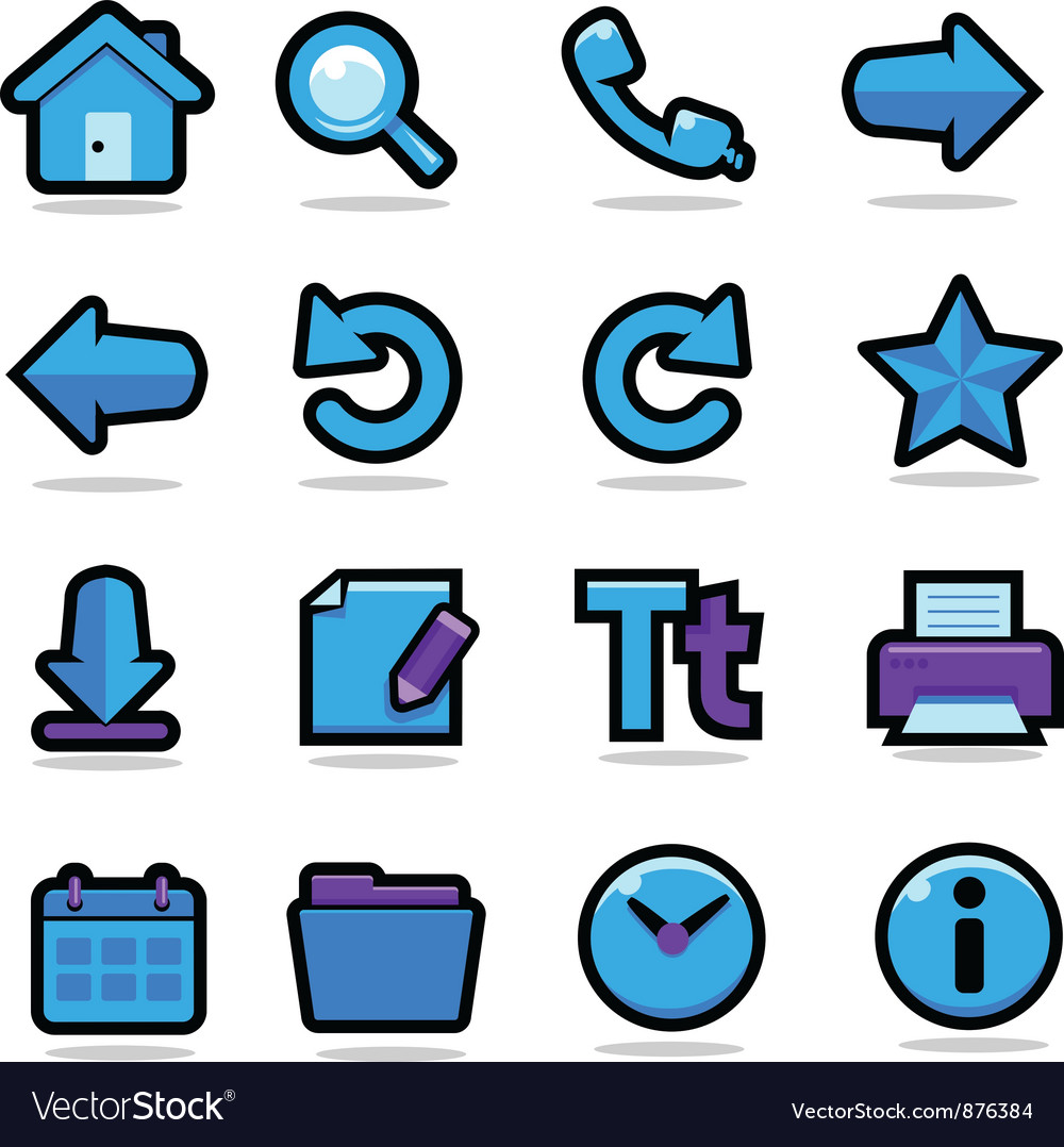 Internet browsing icons set vector | Price: 3 Credit (USD $3)
