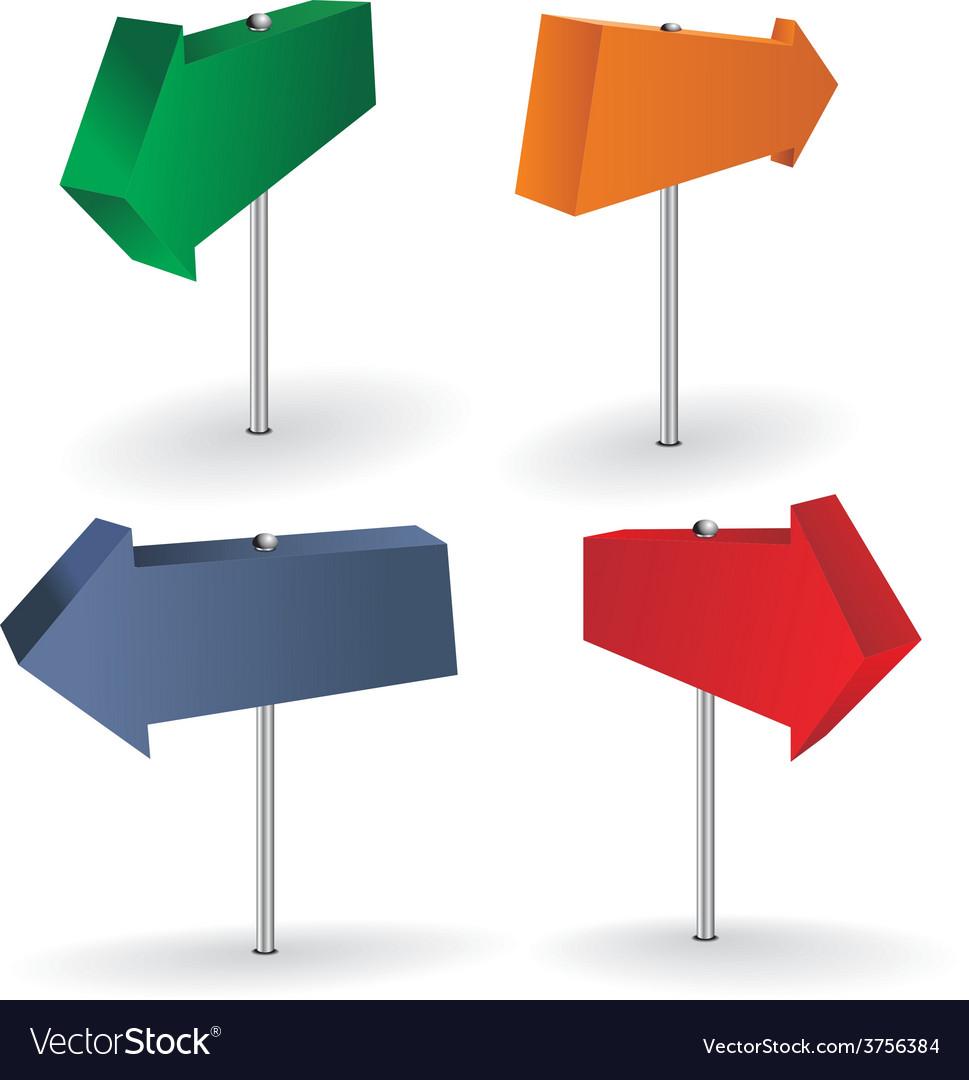 Map pin arrows set vector | Price: 1 Credit (USD $1)