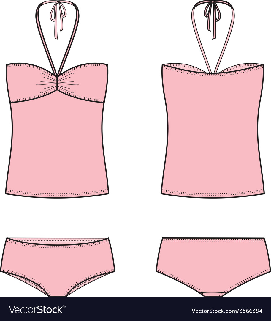 Swimsuit vector | Price: 1 Credit (USD $1)