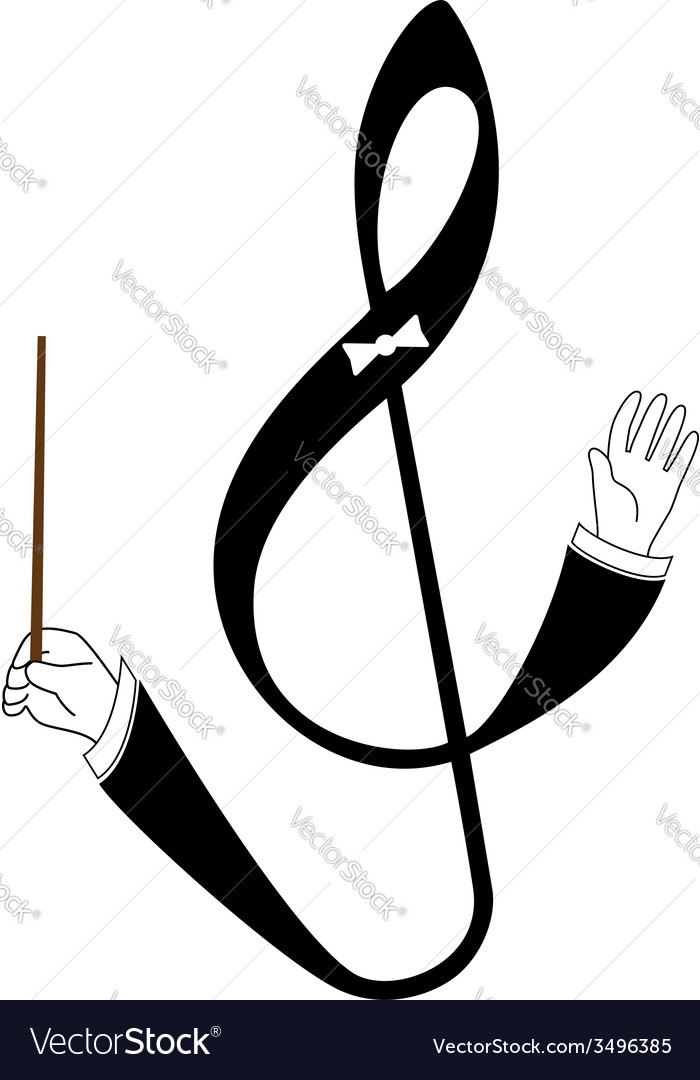 Abstract treble clef as conductor vector | Price: 1 Credit (USD $1)